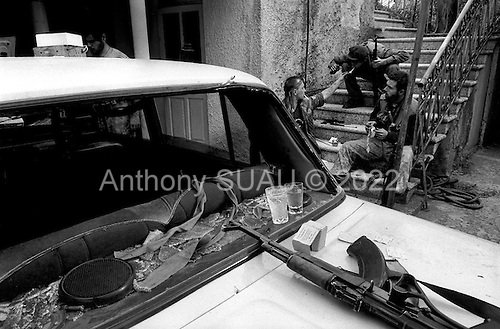 Sukhumi, Abkhazia<br /> September 27, 1993<br /> <br /> Abkhazian separatists prepare to attack Georgian forces that were held up inside the Parliament. Within hours the Abkhazians would control the Parliament building and the city.