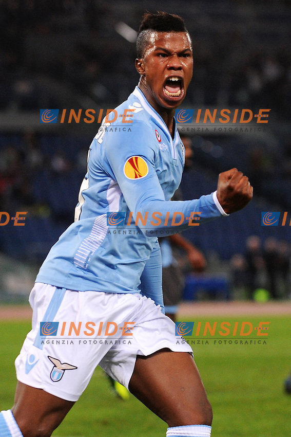 Esultanza di Keita Balde Lazio - Roma 07-11-2013 Stadio Olimpico - Football Calcio Europa League 2013/2014 - Group Stage, group J - Lazio - Apollon <br /> Foto Andrea Staccioli / Insidefoto