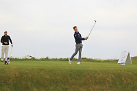 Ross Dutton (Tandragee) on the 1st tee during Round 1of the Flogas Irish Amateur Open Championship 2019 at the Co.Sligo Golf Club, Rosses Point, Sligo, Ireland. 16/05/19<br /> <br /> Picture: Thos Caffrey / Golffile<br /> <br /> All photos usage must carry mandatory copyright credit (© Golffile | Thos Caffrey)