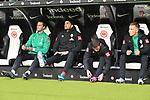 06.10.2019, Commerzbankarena, Frankfurt, GER, 1. FBL, Eintracht Frankfurt vs. SV Werder Bremen, <br /> <br /> DFL REGULATIONS PROHIBIT ANY USE OF PHOTOGRAPHS AS IMAGE SEQUENCES AND/OR QUASI-VIDEO.<br /> <br /> im Bild: Sebastian Langkamp (SV Werder Bremen #15), Stefanos Kapino (SV Werder Bremen #27), Benjamin Goller (SV Werder Bremen #39), Johannes Eggestein (SV Werder Bremen #24)<br /> <br /> Foto © nordphoto / Fabisch
