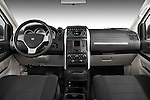 Straight dashboard view of a 2008 Dodge Caravan