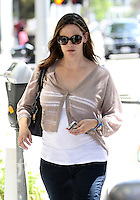 Jennifer Garner was running some errands in Beverly Hills on Thursday. The actress looked casual in a cigarette cut denim, white shirt and short taupe cardigan. Los Angeles, California on 7.6.2012..Credit: Correa/face to face.. /MediaPunch Inc. ***FOR USA ONLY*** /NORTEPHOTO.COM