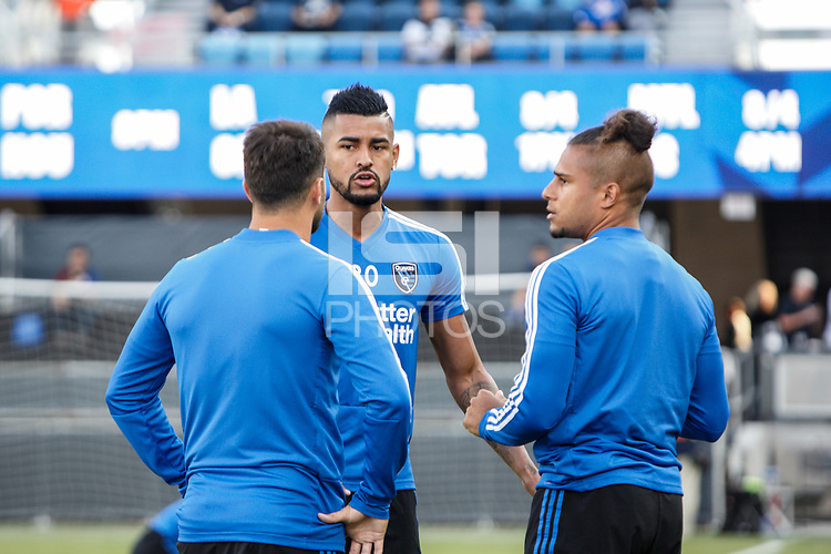 San Jose, CA - Saturday July 28, 2018: Anibal Godoy during a Major League Soccer (MLS) match between the San Jose Earthquakes and Real Salt Lake at Avaya Stadium.