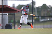 Maxwell Romero Jr (62) of Pembroke Pines Charter High School in Miramar, Florida during the Under Armour Baseball Factory National Showcase, Florida, presented by Baseball Factory on June 12, 2018 the Joe DiMaggio Sports Complex in Clearwater, Florida.  (Nathan Ray/Four Seam Images)