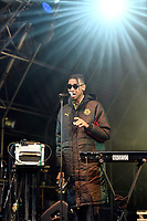BRIXTON, ENGLAND - JUNE 9: Masego performing at Cross The Tracks Festival, Brockwell Park on June 9, 2019 in Brixton, England.<br /> CAP/MAR<br /> ©MAR/Capital Pictures
