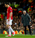 Manchester United manager Jose Mourinho shouts at Zlatan Ibrahimovic during the UEFA Europa League Quarter Final 2nd Leg match at Old Trafford, Manchester. Picture date: April 20th, 2017. Pic credit should read: Matt McNulty/Sportimage