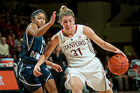 STANFORD, CA - NOVEMBER 17: Toni Kokenis drives past a defender as Stanford hosted Old Dominion University at Maples Pavilion. The Cardinal defeated Big Blue 97-48.