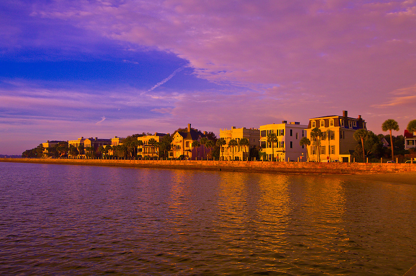 The Battery on East Bay Street along the Cooper River, in the historic district of Charleston, South Carolina