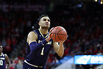 RALEIGH, NC - FEBRUARY 03: Notre Dame's Austin Torres. The North Carolina State Wolfpack hosted the University of Notre Dame Fighting Irish on February 3, 2018 at PNC Arena in Raleigh, NC in a Division I men's college basketball game. NC State won the game 76-58.