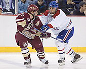 Chris Collins, JR Bria - The University of Massachusetts-Lowell River Hawks defeated the Boston College Eagles 6-3 on Saturday, February 25, 2006, at the Paul E. Tsongas Arena in Lowell, MA.