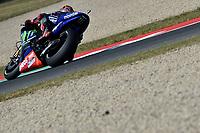 SCARPERIA,FLORENCE, ITALY - JUNE 02:,2017 Maverick Vinales of Spain and Movistar Yamaha MotoGP in action Free Practice MotoGP Gran Premio d'Italia- at Mugello Circuit. on june 02, 2017 in Scarperia Italy.<br /> Photo Marco Iorio/Insidefoto