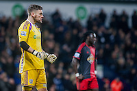 WEST BROMWICH, ENGLAND - FEBRUARY 11:  Ben Foster of West Bromwich Albion tries to motivate his team mats  during the Premier League match between West Bromwich Albion and Swansea City at The Hawthorns on February 11, 2015 in West Bromwich, England. (Photo by Athena Pictures/Getty Images)