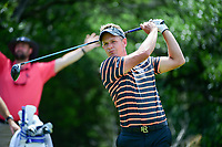 Luke Donald (GBR) watches his tee shot on 9 during round 2 of the Valero Texas Open, AT&amp;T Oaks Course, TPC San Antonio, San Antonio, Texas, USA. 4/21/2017.<br /> Picture: Golffile | Ken Murray<br /> <br /> <br /> All photo usage must carry mandatory copyright credit (&copy; Golffile | Ken Murray)