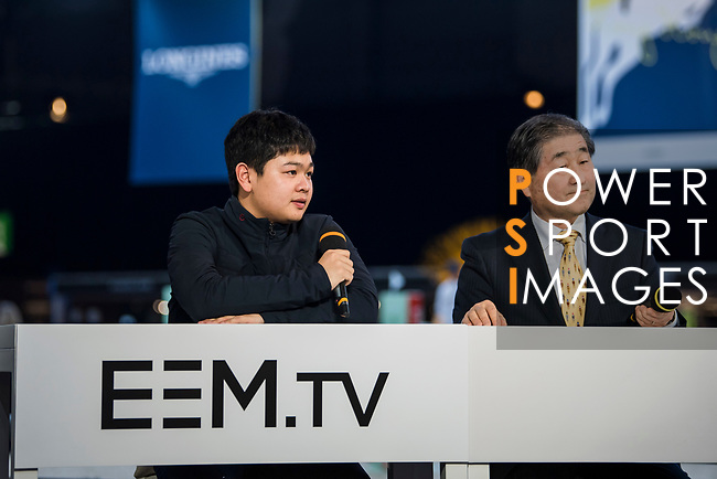 EEM.TV Masters Talks during the Longines Masters of Hong Kong at AsiaWorld-Expo on 10 February 2018, in Hong Kong, Hong Kong. Photo by Zhenbin Zhong / Power Sport Images