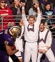 The cheer squad goes crazy during Hunter Bryant's 40-yard touchdown.