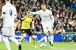 Real Madrid's Cristiano Ronaldo , Borussia Dortmund Julian Weigl during Champions League match between Real Madrid and Borussia Dortmund  at Santiago Bernabeu Stadium in Madrid , Spain. December 07, 2016. (ALTERPHOTOS/Rodrigo Jimenez)