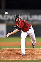 Nashville Sounds pitcher Brent Leach (30) delivers a warmup pitch during the second game of a double header against the Omaha Storm Chasers on May 22, 2014 at Herschel Greer Stadium in Nashville, Tennessee.  Nashville defeated Omaha 13-4.  (Mike Janes/Four Seam Images)