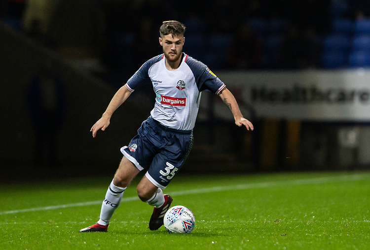 Bolton Wanderers' Sonny Graham <br /> <br /> Photographer Andrew Kearns/CameraSport<br /> <br /> The EFL Sky Bet League One - Bolton Wanderers v Blackpool - Monday 7th October 2019 - University of Bolton Stadium - Bolton<br /> <br /> World Copyright © 2019 CameraSport. All rights reserved. 43 Linden Ave. Countesthorpe. Leicester. England. LE8 5PG - Tel: +44 (0) 116 277 4147 - admin@camerasport.com - www.camerasport.com