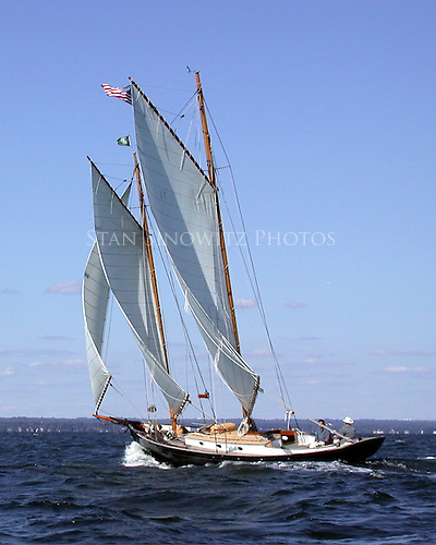 The Schooner sailing proud.
