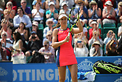 June 16th 2017, Nottingham, England;WTA Aegon Nottingham Open Tennis Tournament day 7;  Johanna Konta of Great Britain acknowledges the applause of the packed crowd after her quarter final victory over Ashleigh Barty of Australia; Konta won 6-3, 7-5 to reach the semi finals
