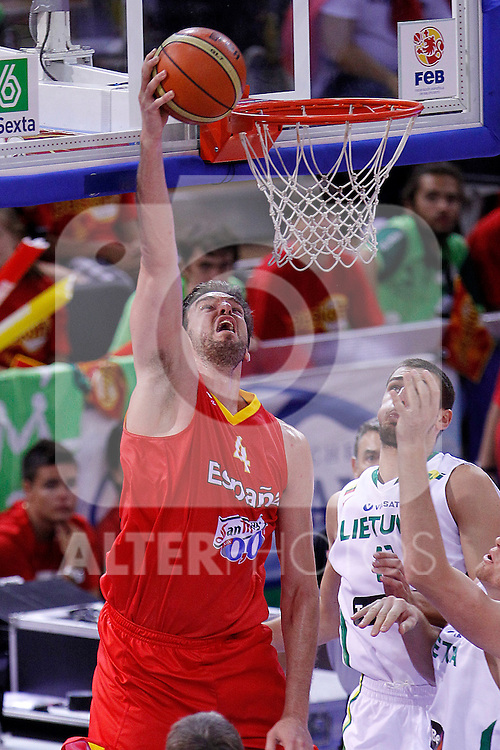 Spain's Pau Gasol during friendly match.August 13,2011. (ALTERPHOTOS/Acero)