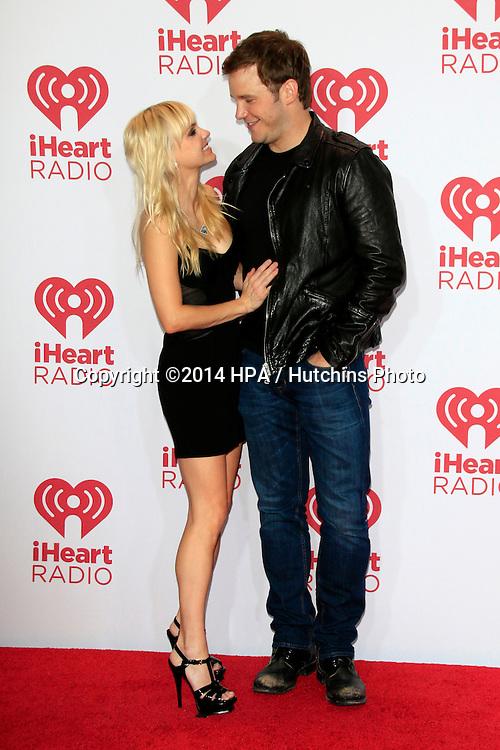 LAS VEGAS - SEP 19:  Anna Faris, Chris Pratt at the iHeart Radio Music Festival Night 1 at MGM Grand Resort and Casino on September 19, 2014 in Las Vegas, NV
