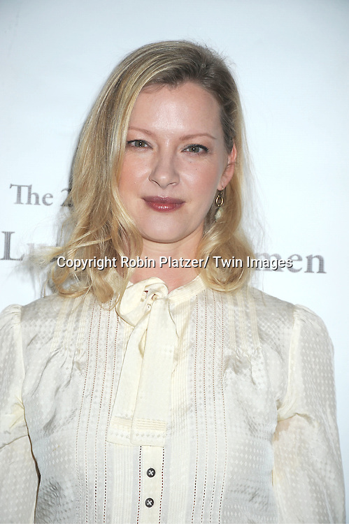 "Gretchen Mol in Burburry skirt attends the 25th Annual Citymeals-on-Wheels ""Power Lunch for Women""  on November 18, 2011 at The Pierre Hotel in New York City."