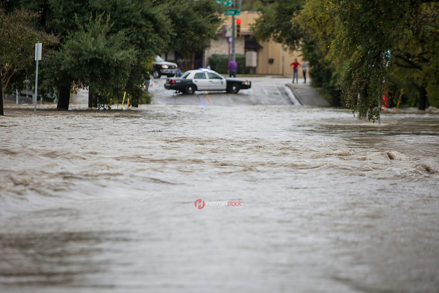 Flooding was widespread in the Austin area as intense storms pounded central Texas.