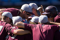 The Boston College Eagles come together prior to taking on the Florida State Seminoles at Durham Bulls Athletic Park May 20, 2009 in Durham, North Carolina. (Photo by Brian Westerholt / Four Seam Images)