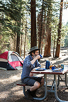 Breakfast at Sheep Creek campground in Kings Canyon National Park, California.