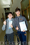 Ciaran Sears and Albert Kastrati just finished the first paper english at CBS The Green,Tralee on Wednesday