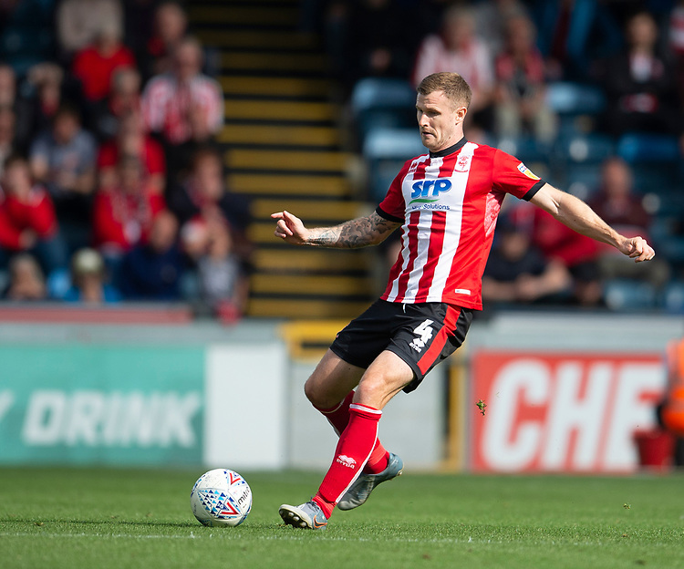 Lincoln City's Michael O'Connor<br /> <br /> Photographer Andrew Vaughan/CameraSport<br /> <br /> The EFL Sky Bet League One - Wycombe Wanderers v Lincoln City - Saturday 7th September 2019 - Adams Park - Wycombe<br /> <br /> World Copyright © 2019 CameraSport. All rights reserved. 43 Linden Ave. Countesthorpe. Leicester. England. LE8 5PG - Tel: +44 (0) 116 277 4147 - admin@camerasport.com - www.camerasport.com