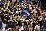 27 APR 2014: The Juniata College student section during the Division III Men's Volleyball Championship held at the Kennedy Sports Center in Huntingdon, PA. Springfield defeated Juniata 3-0 to win the national title.  Mark Selders/NCAA Photos
