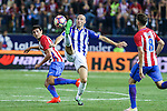 Atletico de Madrid's Tiago Mendes and Deportivo Alaves's Gaizka Toquero during the match of La Liga Santander between Atletico de Madrid and Deportivo Alaves at Vicente Calderon Stadium. August 21, 2016. (ALTERPHOTOS/Rodrigo Jimenez)