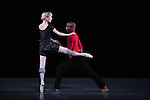 Sarah Lamb and Eric Underwood from the Royal Ballet performing 'Limen Pas de Deux' during the rehearsal for 'Stars of the 21st Century' at the David H. Koch Theater at Lincoln Center  on October 18, 2012 in New York City.