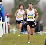 BROOKINGS, SD - OCTOBER 31:  Trent Lusignan from South Dakota State University leads teammate Joel Reichow during the 2015 Summit League Cross Country Championships at Edgebrook Golf Course in Brookings. (Photo by Dave Eggen/Inertia)
