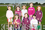 TRAINING: The Causeway U10 camogie team training hard in Causeway on Thursday front l-r: Erika Diggins, Ivana Neilan and Leanne Barrett. Back l-r: Aoife Barrett, Sarah Lawlor, Micheala Barrett, Katelyn Diggins and Molly Dineen.