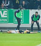 ***BETALBILD***  <br /> Solna 2015-10-04 Fotboll Allsvenskan AIK - Malm&ouml; FF :  <br /> AIK:s Stefan Ishizaki firar sitt 2-1 m&aring;l under matchen mellan AIK och Malm&ouml; FF <br /> (Foto: Kenta J&ouml;nsson) Nyckelord:  AIK Gnaget Friends Arena Allsvenskan Malm&ouml; MFF jubel gl&auml;dje lycka glad happy