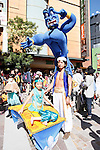 Participants in unique costume take part in a Halloween parade in Kawasaki, near Tokyo, on Sunday, October 25, 2015. (Photo by AFLO)