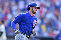 Chicago Cubs third baseman Kris Bryant (17) rounds the bases after hitting a home run during a game against the Atlanta Braves at Turner Field on June 11, 2016 in Atlanta, Georgia. The Cubs defeated the Braves 8-2. (Tony Farlow/Four Seam Images)
