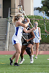 Torrance, CA 05/09/13 - Talia Fiance (Agoura #7) and Emma Barrow (Oak Park #36) in action during the 2013 Los Angeles area Girls Varsity Lacrosse Championship.  Agoura defeated Oak Park 13-7.
