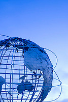 THIS IMAGE IS AVAILABLE EXCLUSIVELY FROM GETTY IMAGES<br /> <br /> Please search for image # 200566130-003 on www.gettyimages.com<br /> <br /> The Unisphere, Steel Globe Built for the 1964-65 World's Fair, Flushing Meadow Corona Park, Queens, New York City, New York State, USA