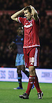 Cristhian Stuani of Middlesbrough after missing the goal - Sky Bet Championship - Middlesbrough vs Sheffield Wednesday - Riverside Stadium - Middlesbrough - England - 28th of December 2015 - Picture Jamie Tyerman/Sportimage