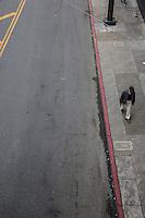 una persona passeggia per Chinatown  A person walking in Chinatown  (vista dall'alto)