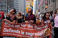 New York City, NY. 21 September 2014. People from an Indigenous Comunity attend the People's Climate March, making it the largest climate march in history. Photo by Kena Betancur/VIEWpress