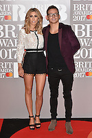 Stacey Solomon, Joe Swash<br /> The Brit Awards at the o2 Arena, Greenwich, London, England on February 22, 2017.<br /> CAP/PL<br /> &copy;Phil Loftus/Capital Pictures /MediaPunch ***NORTH AND SOUTH AMERICAS ONLY***