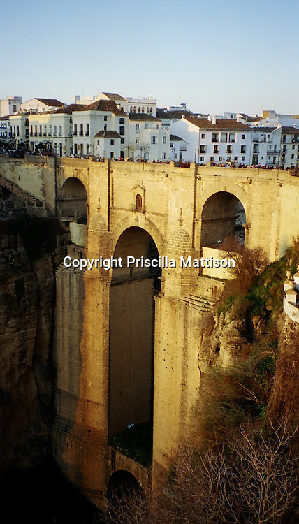 "The Puente Nuevo (""New Bridge"") over the El Tajo gorge in Ronda, Spain"
