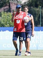 Maurizio Sarri   Manolo Gabbianini<br /> ritiro precampionato Napoli Calcio a  Dimaro 12<br /> Luglio 2015<br /> <br /> Preseason summer training of Italy soccer team  SSC Napoli  in Dimaro Italy July 12, 2015