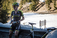 A disappointed Simon Yates (GBR/Mitchelton-Scott), who finished 4th) behind the finish line (altitude: 1600m)<br /> <br /> Stage 7: Nice to Col de Turini (181km)<br /> 77th Paris - Nice 2019 (2.UWT)<br /> <br /> ©kramon