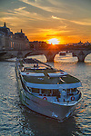 Tour boat at sunset along the Seine River, Paris, France. .  John offers private photo tours in Denver, Boulder and throughout Colorado, USA.  Year-round. .  John offers private photo tours in Denver, Boulder and throughout Colorado. Year-round.